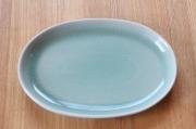 セラドン焼きだ円皿